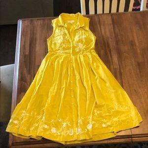 Anthropologie Moulinette Soeurs Dress Mustard 4